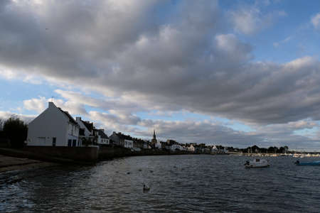 Village of Locmariaquer in Morbihan in Brittany Editorial