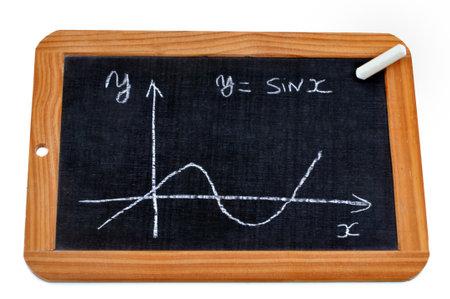 Sine curve drawn on a school slate