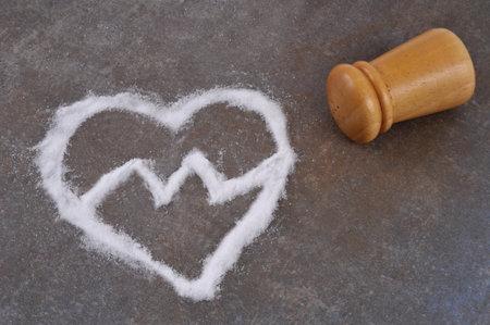 Concept of health hazard with excess salt intake Stock fotó