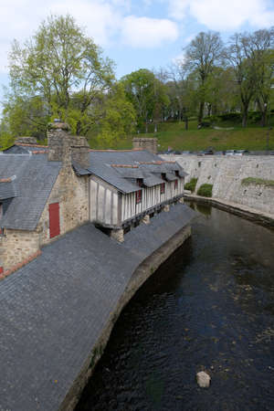 The wash house on the banks of the La Marle river in Vannes in Brittany