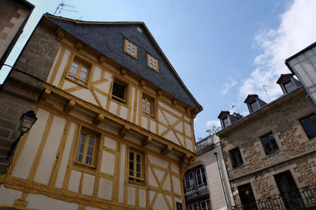 Half-timbered house in Vannes in Brittany
