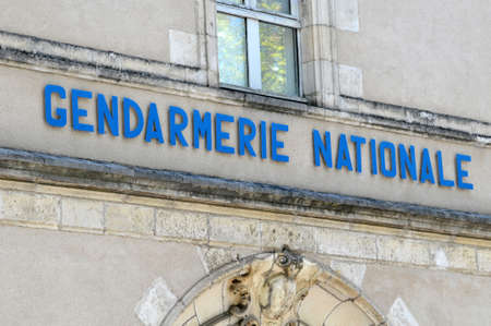 Facade of the national gendarmerie of Vannes in Brittany