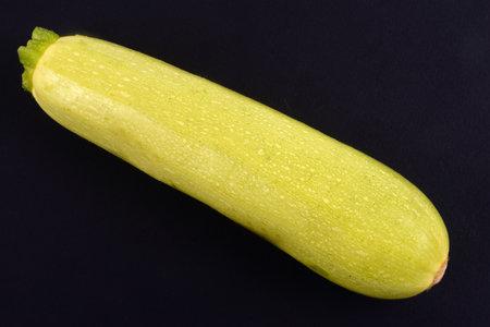 White zucchini Lorea black background