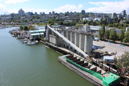 A Cement Facility on Granville Island, Vancouver Stock Photo