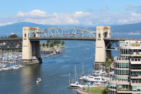 Burrard Street Bridge Stock Photo