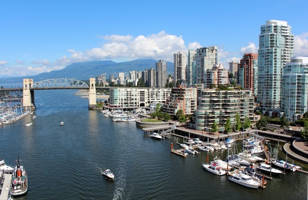 northshore: False Creek Looking West Stock Photo