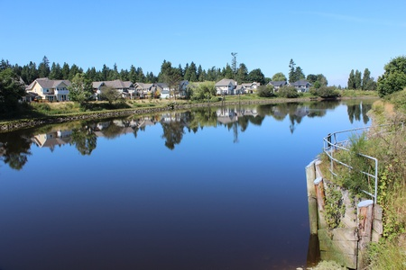 The Nicomekl River in Surrey, British Columbia Stock Photo
