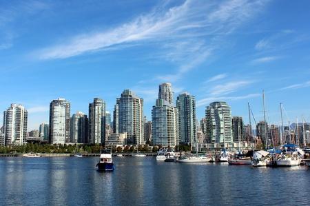 Vancouver City Skyline Stockfoto