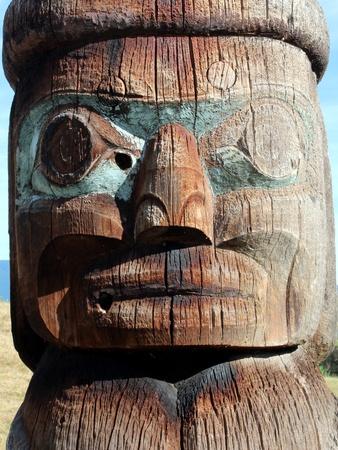 haida indian: Haida Carving Stock Photo