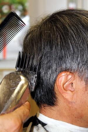 Shaving Hair Stock Photo - 10758772