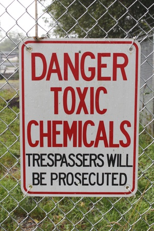 Toxic Chemicals Sign Stock Photo