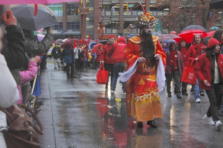 marchers: Vancouvers Chinese New Years Parade Editorial
