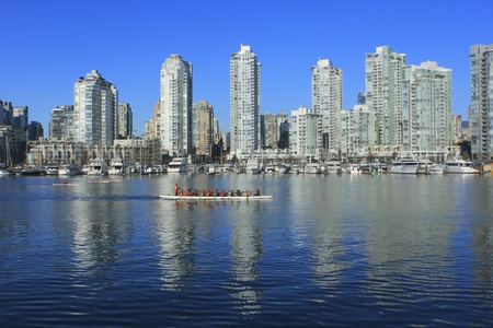 Kayakers Competing on False Creek