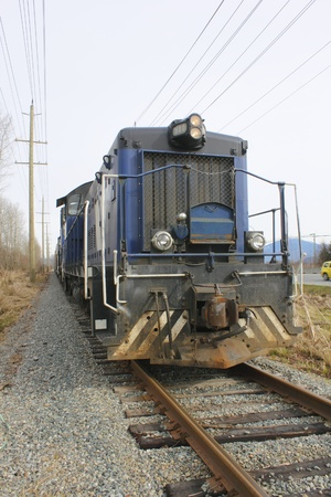 goods train: Frontal View of Rail Link Locomotive
