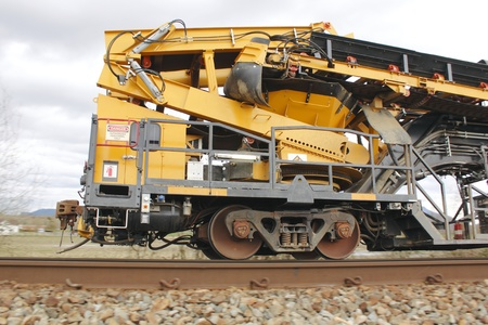 Railway Track Maintenance Vehicle 2 Stock Photo
