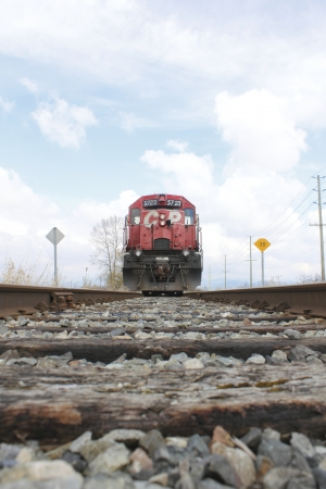 Canadian Pacific Train Approaches Stock Photo - 13062103