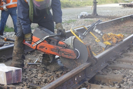 Cutting Railway Track