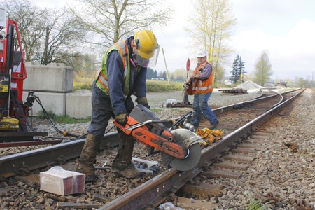 Maintenance on Railway Track