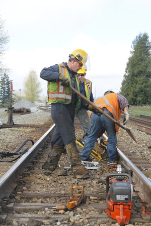 Fixing Railway Track  Stock Photo - 13256756