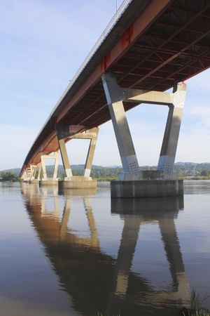 fraser river: Mission Bridge across the Fraser River Stock Photo