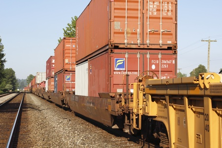 goods train: Train Containers