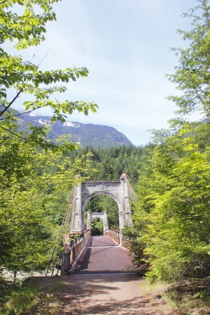 The Historic Alexandra Bridge on the old Fraser road   Stock Photo - 14133891