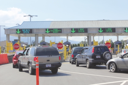 The Nexus Line at the Sumas border crossing in Washington State