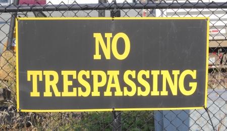 No Trespassing Sign Banco de Imagens