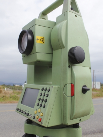 Side view of a surveyors Theodolite photo