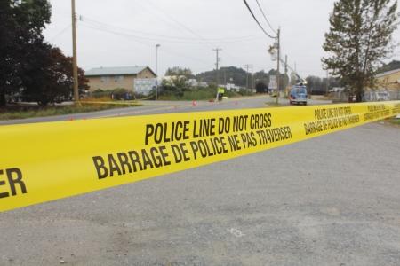 Police Tape marks a crime scene investigation photo