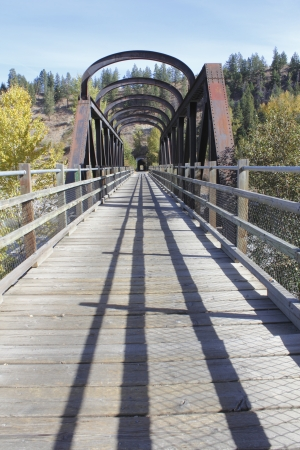 A railway bridge, part of the historic Kettle Valley Railway system near Princeton, British Columbia Stock Photo - 15733770