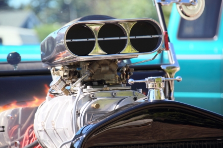 A close-up look at a Hemi engine Banco de Imagens - 23639379