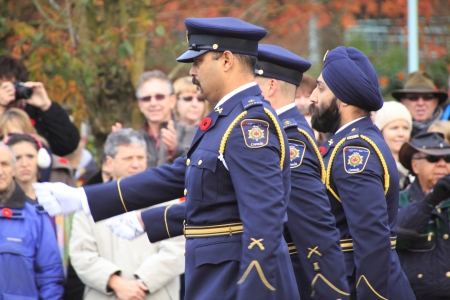 correctional: Members of the Correctional Service march during Remembrance Day ceremonies
