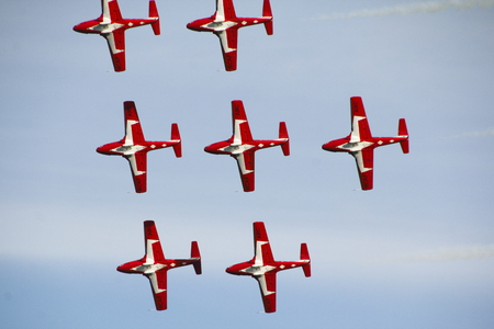 Close on a group of Canadian Snowbirds, an aerobatic team   Editorial
