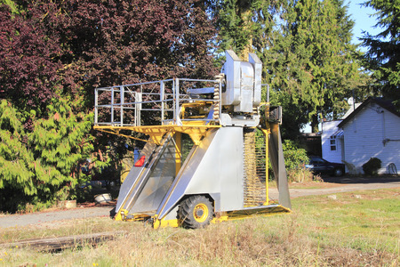 An industrial machine used to pick berries.
