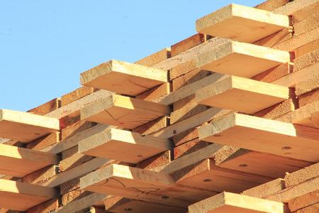 neatly stacked: Lumber Neatly Stacked Stock Photo