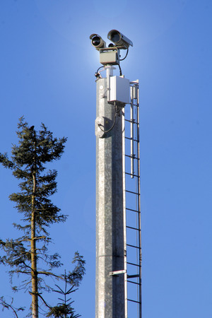 Medium shot of technology used for keeping the American border secure.