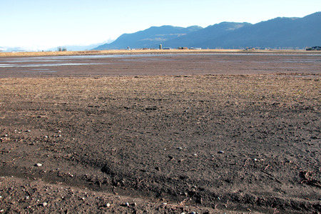 fraser river: The Fraser Valley in southwestern BC has soil rich with nutrients derived from river silt. Stock Photo