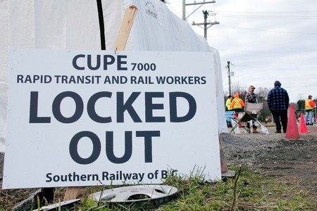 lock out: Southern Railway of British Columbia issued a locked out notice after CUPE Local 7000 members rejected the company Editorial