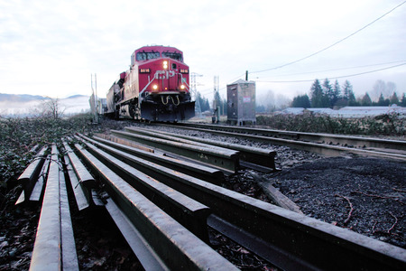 replace: Railway track will be used to repair and replace track for a Canadian National Line