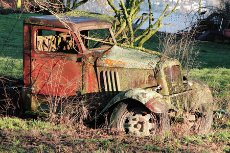 enveloping: An old, abandoned vehicle slowly succumbs to Mother Nature.