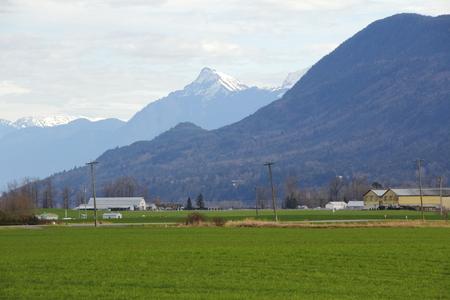 comprised: Una valle composta da terreni agricoli in Canada \ Archivio Fotografico