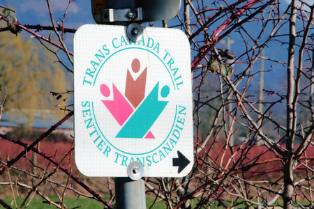 longest: A Trans Canada Trail sign directs people to the worlds longest nature path.