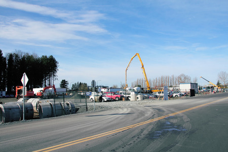 begun: Construction has begun on an upgrade to the Sumas Border Crossing near Abbotsford, British Columbia on March 13, 2015.