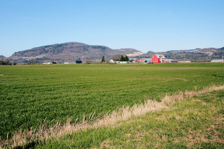 A prosperous farming community in North America. Stock Photo