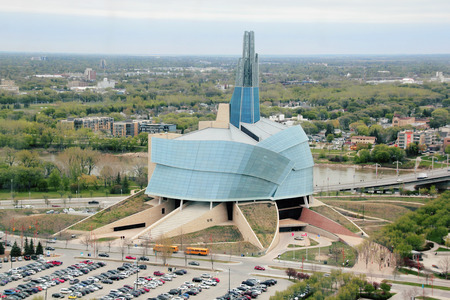 manitoba: The iconic Human Rights Museum in Winnipeg Manitoba Canada.