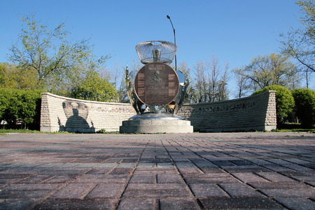 winnipeg: A monument in downtown Winnipeg Manitoba that pays tribute to the Scottish settlers. Editorial