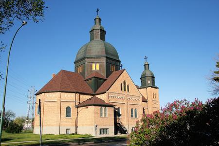 holy eucharist: The Holy Eucharist Ukrainian Catholic Church is a historical landmark in Winnipeg Manitoba Canada. Stock Photo