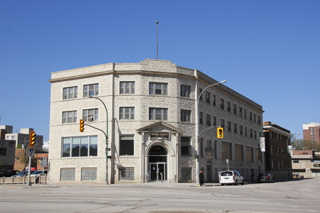The Dominion College Building in Winnipeg Manitoba was completed in 1927 and represents the many heritage sites throughout the city. Redakční