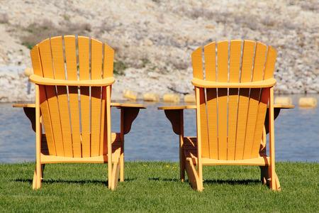 muskoka: Two North American Muskoka or Adirondack chairs